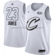 Maillot NBA Pas Cher Cleveland Cavaliers LeBron James 23# White 2018 All Star Game Swingman..